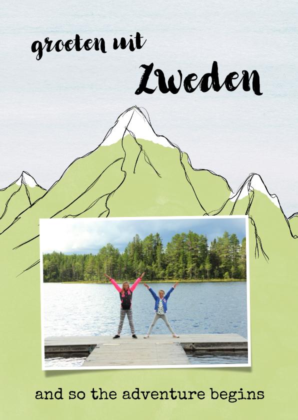 Vakantiekaarten - Vakantiekaart vakantie bergen
