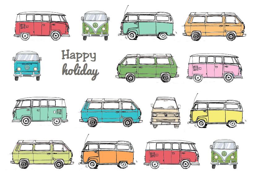 Vakantiekaarten - Vakantiekaart VW busjes