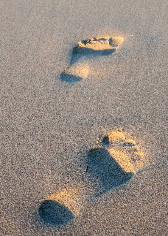 Vakantiekaarten - Voetstappen in het zand