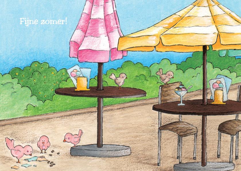 Vakantiekaarten - Vogeltjes in juli