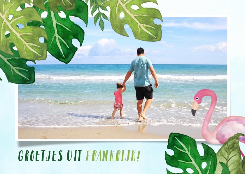 Vakantiekaarten - Vrolijke tropische vakantie ansichtkaart met eigen foto
