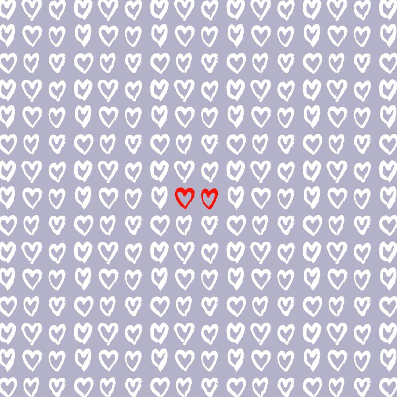 Valentijnskaarten - 2 red hearts