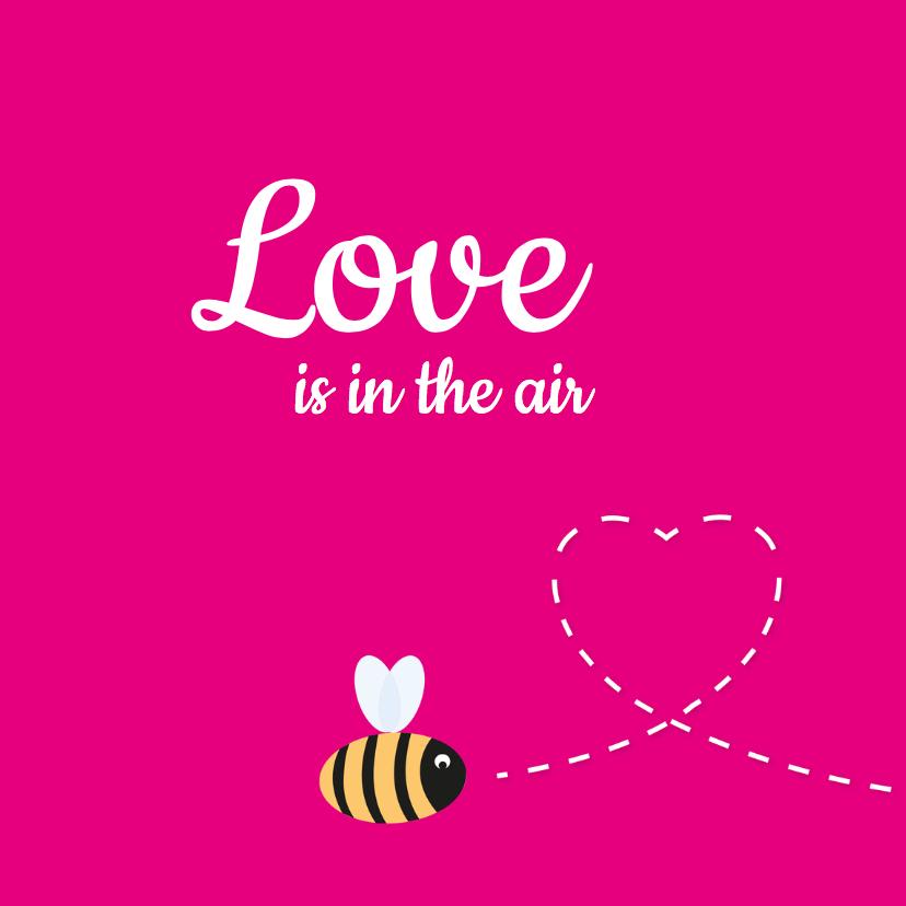 Valentijnskaarten - Bijtje vlieg een hartje