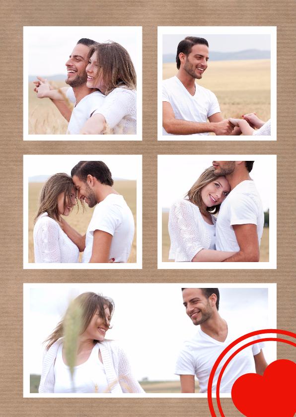 Valentijnskaarten - Collage Valentijn 5 foto's - DH