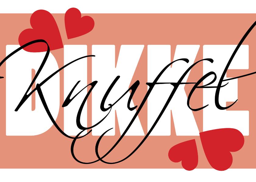 Valentijnskaarten - Dikke knuffel origineel