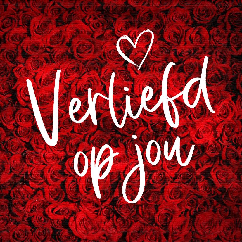 Valentijnskaarten - Een romantische anonieme valentijnskaart met rozen