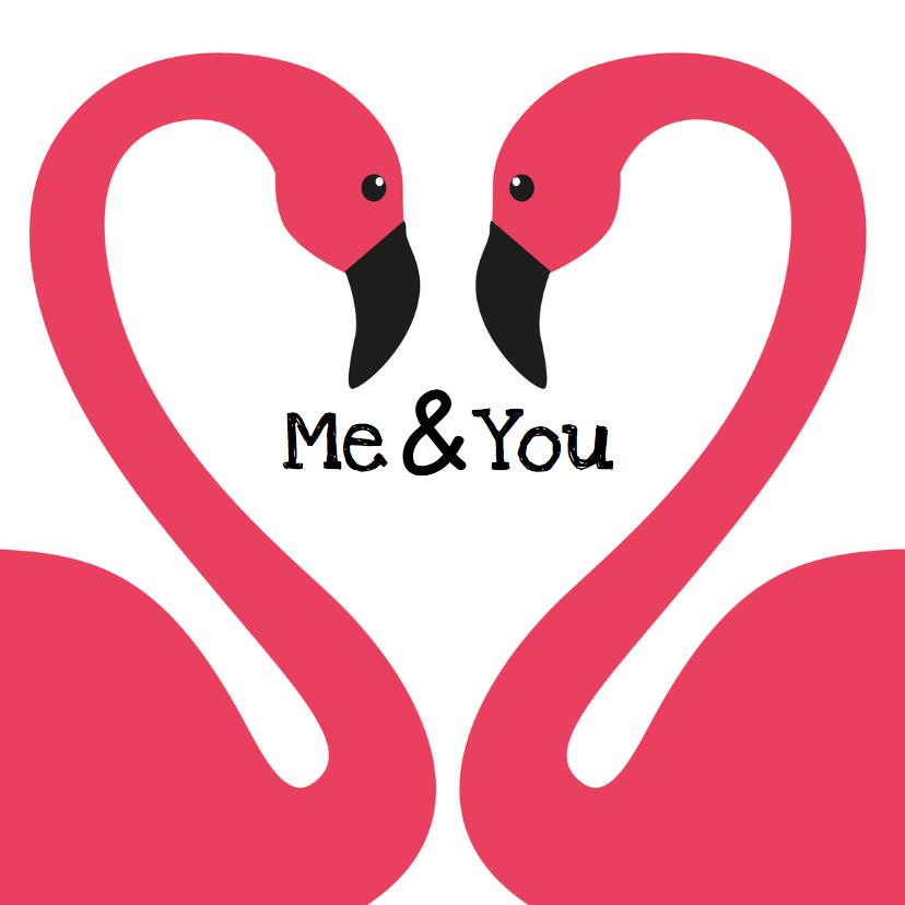 Valentijnskaarten - Flamingo Valentijnskaart perfect