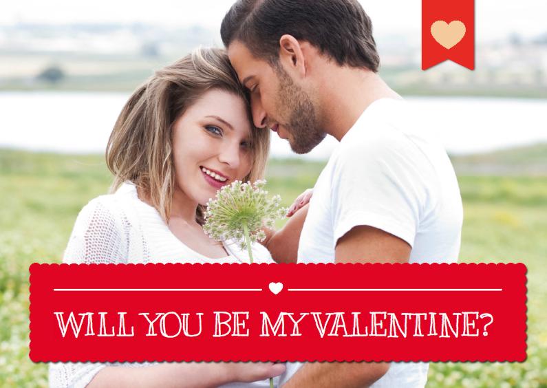 Valentijnskaarten - Fotokaart Valentijn met vlak