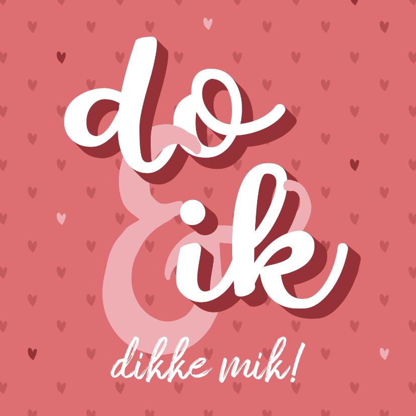 Valentijnskaarten - Fries Valentijnskaartje met quote en hartjes