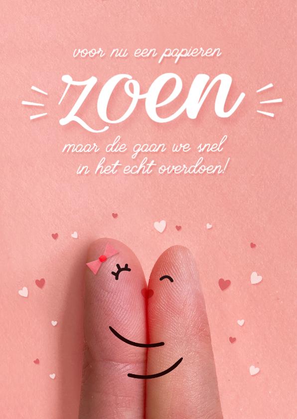 Valentijnskaarten - Grappige Corona valentijnskaart papieren zoen snel overdoen!