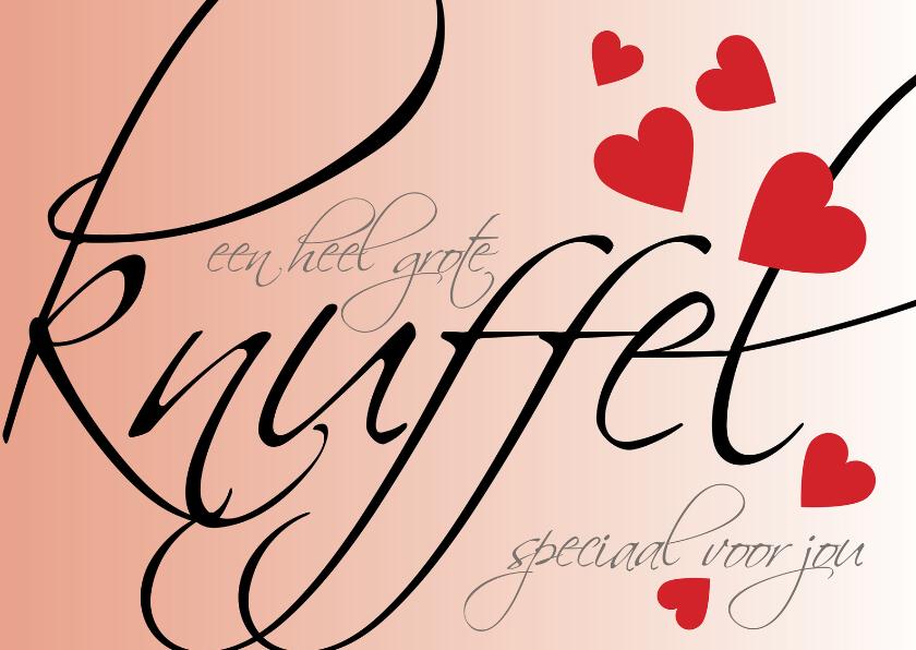 Valentijnskaarten - grote knuffel speciaal voor jou