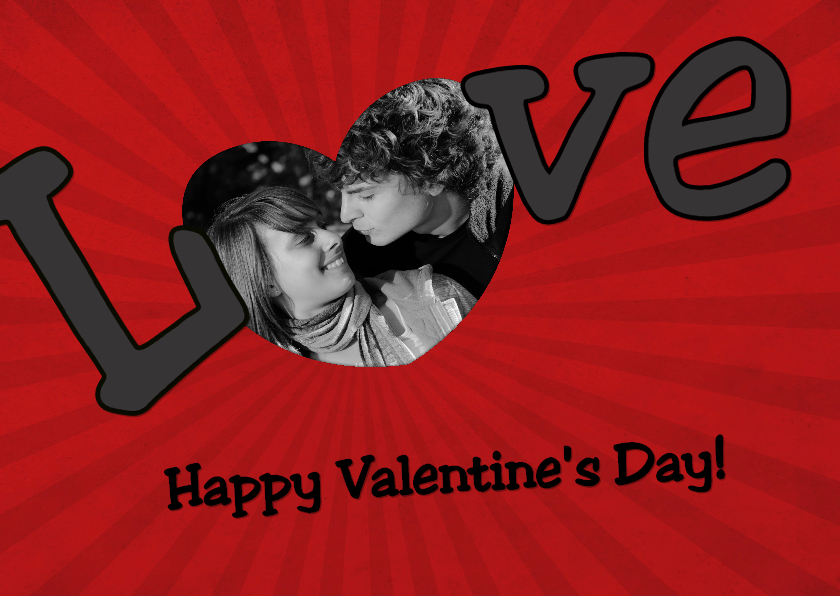 Valentijnskaarten - Happy Valentine's Day - BK