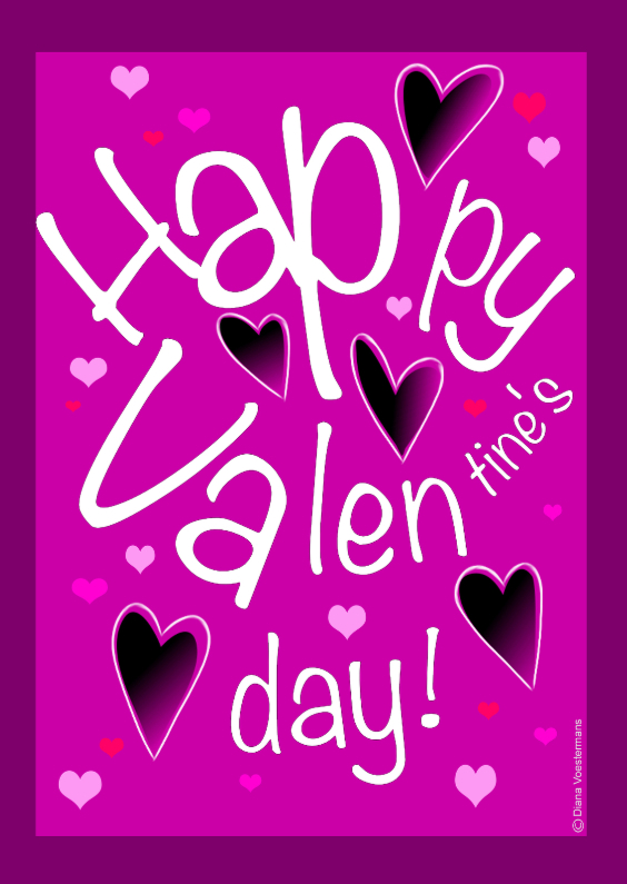 Valentijnskaarten - Happy Valentines day pink