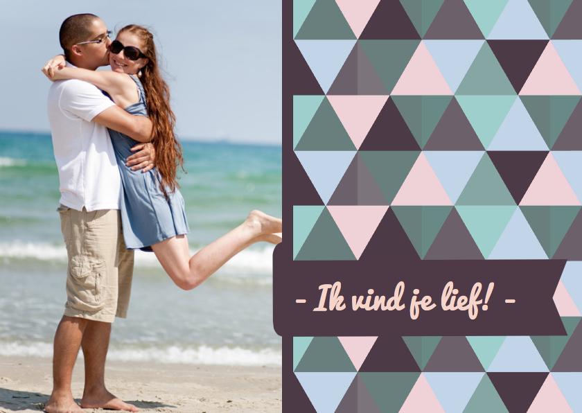 Valentijnskaarten - Ik vind je lief driehoekjes