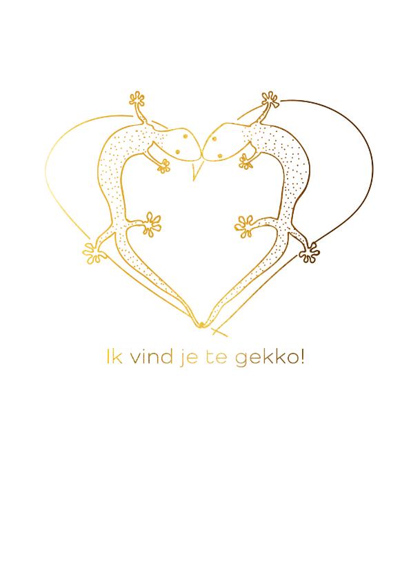 Valentijnskaarten - Ik vind je te gekko.