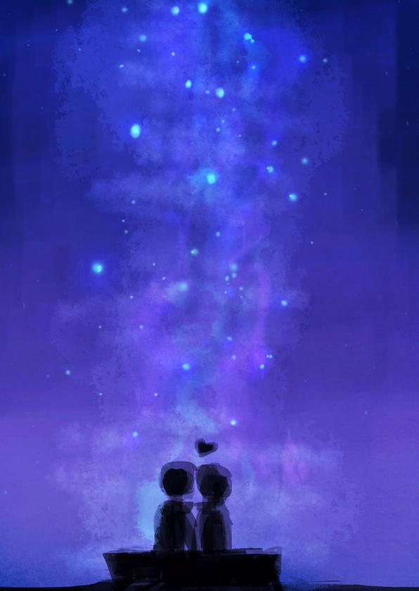 Valentijnskaarten - In de sterren