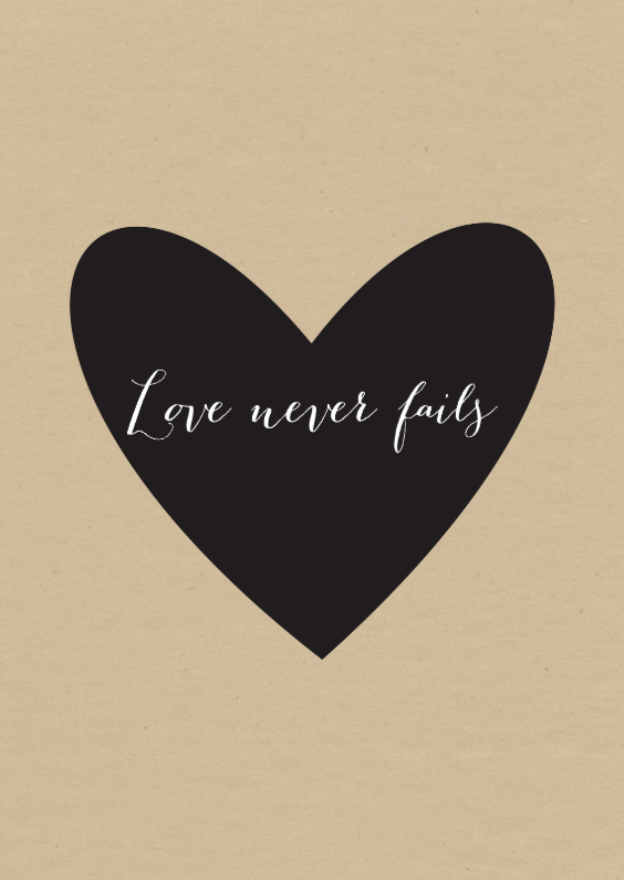 Valentijnskaarten - Kaart hart love
