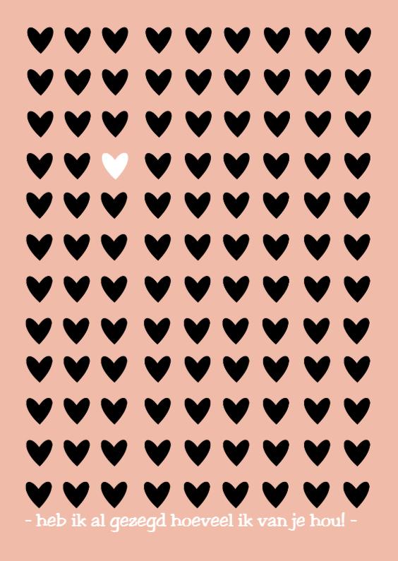 Valentijnskaarten - Kaart hartjes