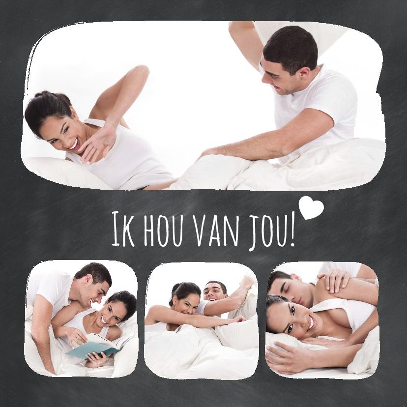 Valentijnskaarten - Krijtbord Ik hou van jou - BK
