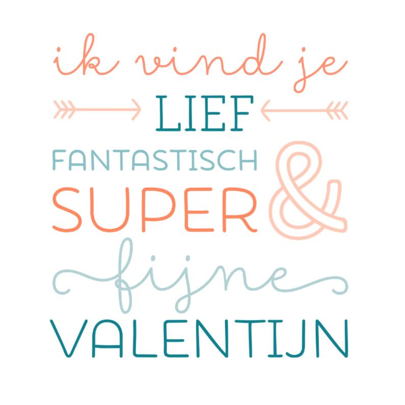 Valentijnskaarten - Lief super valentijn
