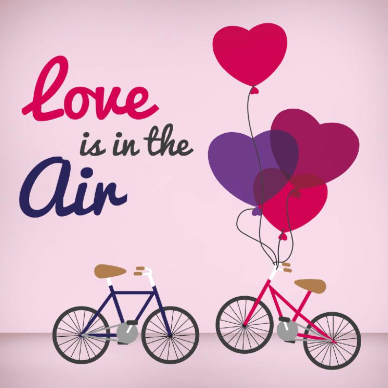 Valentijnskaarten - Liefde fiets 1
