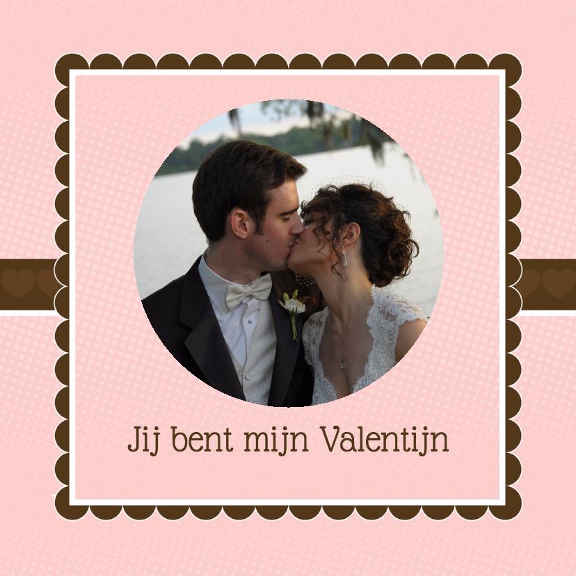 Valentijnskaarten - Liefdeskaart bruin roze - BK