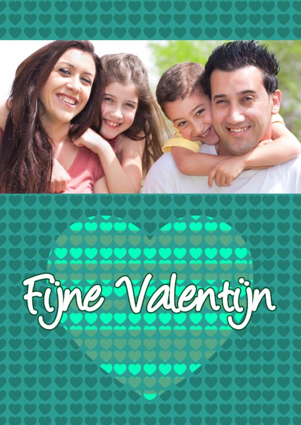 Valentijnskaarten - Liefdeskaart groen - BK