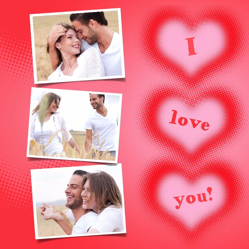Valentijnskaarten - Liefdeskaart I love you! - BK