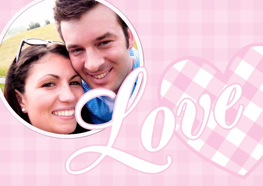 Valentijnskaarten - Liefdeskaart Love you - BK