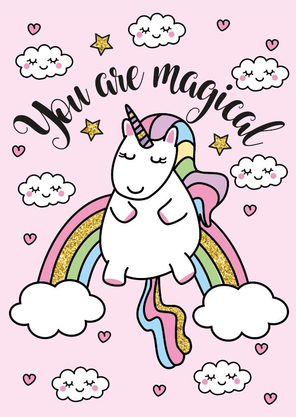 Valentijnskaarten - Liefdeskaart Unicorn Magical