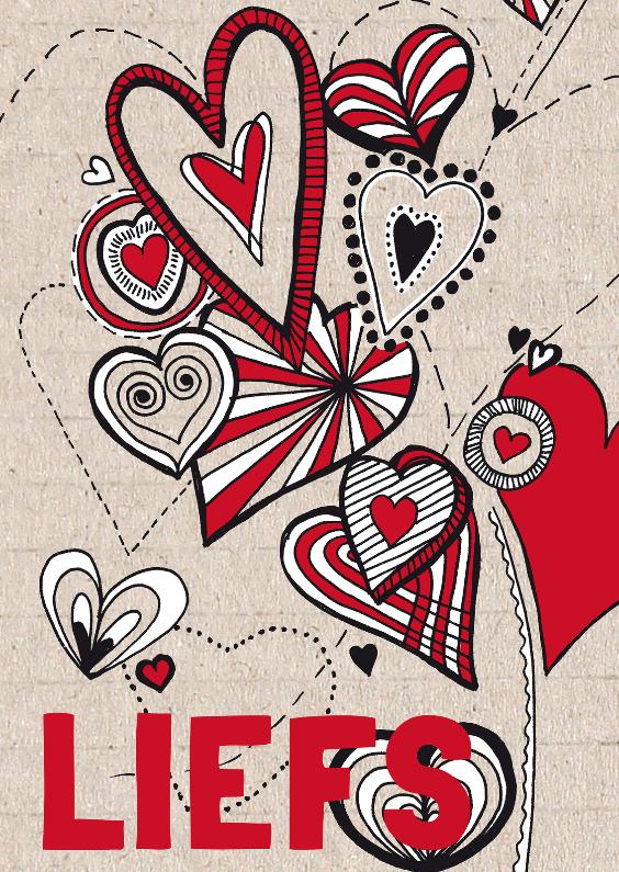 Valentijnskaarten - Liefs met hartjes