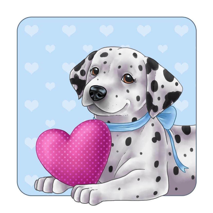 Valentijnskaarten - Lieve dalmatiër met hartje
