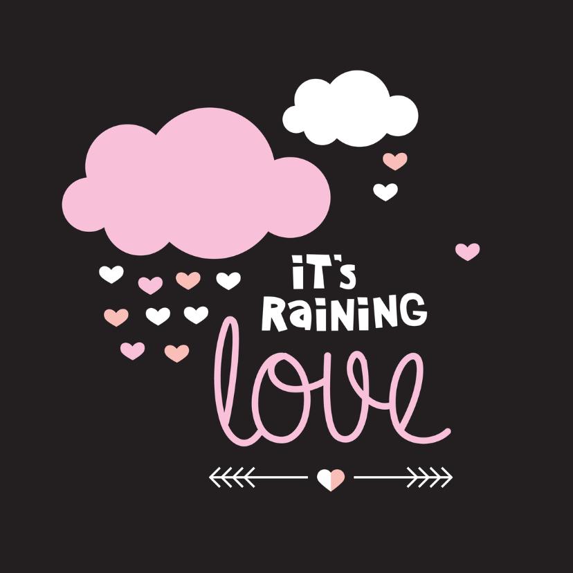 Valentijnskaarten - Love hartjes regen valentijn