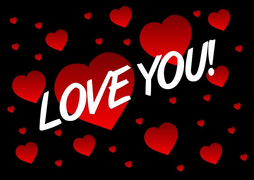 Valentijnskaarten - Love you Valentijn