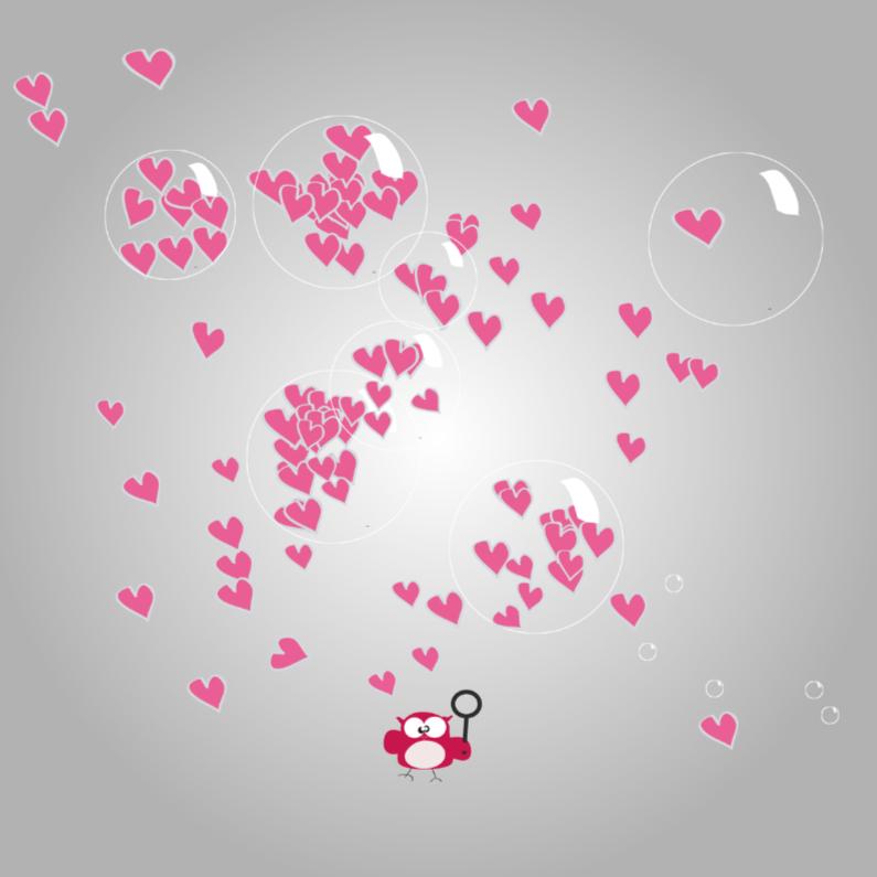 Valentijnskaarten - Mo Card lieve valentijnskaart met schattig uiltje