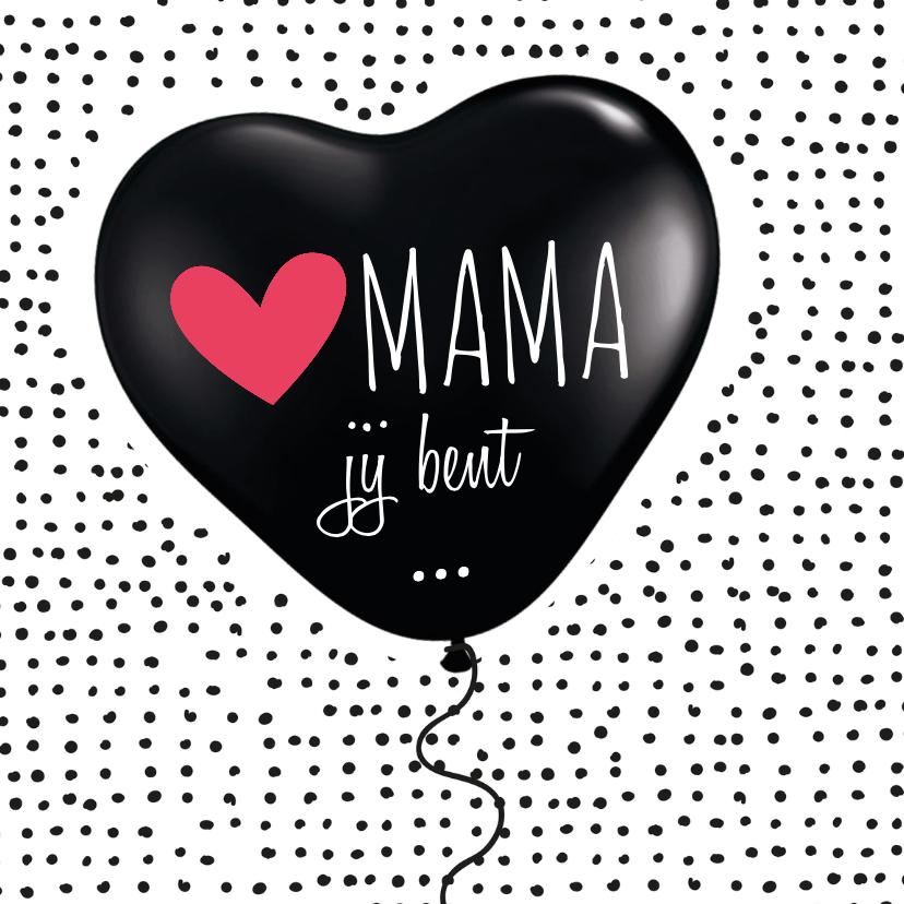 Valentijnskaarten - Moederdagkaart ballon hartje