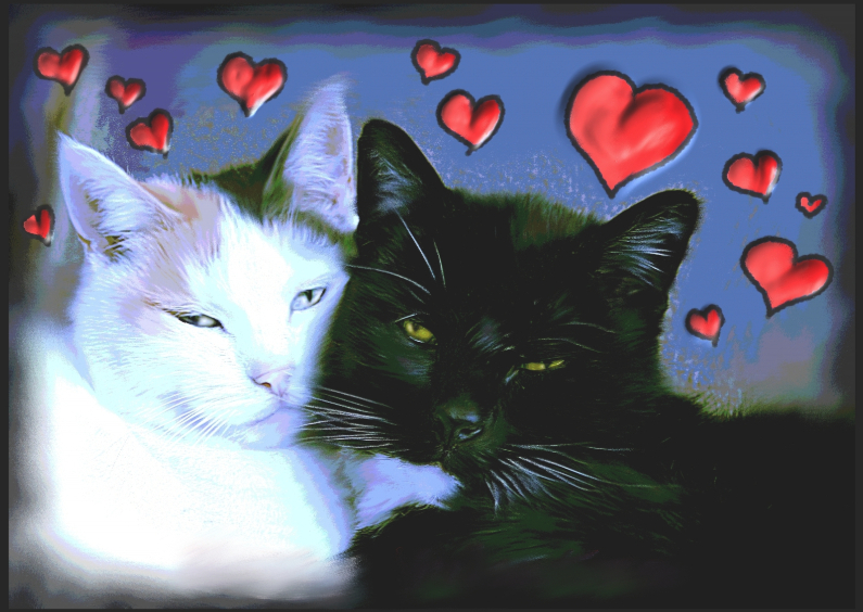 Valentijnskaarten - Nathalie Antalvari Verliefde Beesies