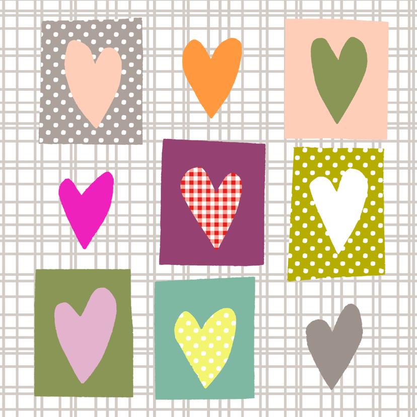 Valentijnskaarten - Pastel hartjes