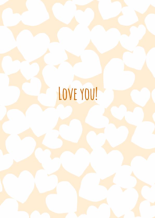 Valentijnskaarten - Patroon harten eigen tekst