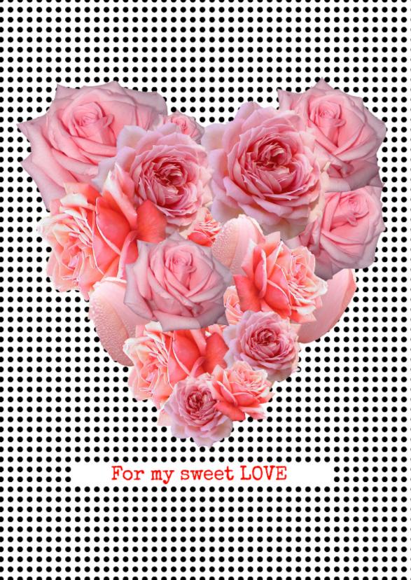 Valentijnskaarten - ROZEN HART