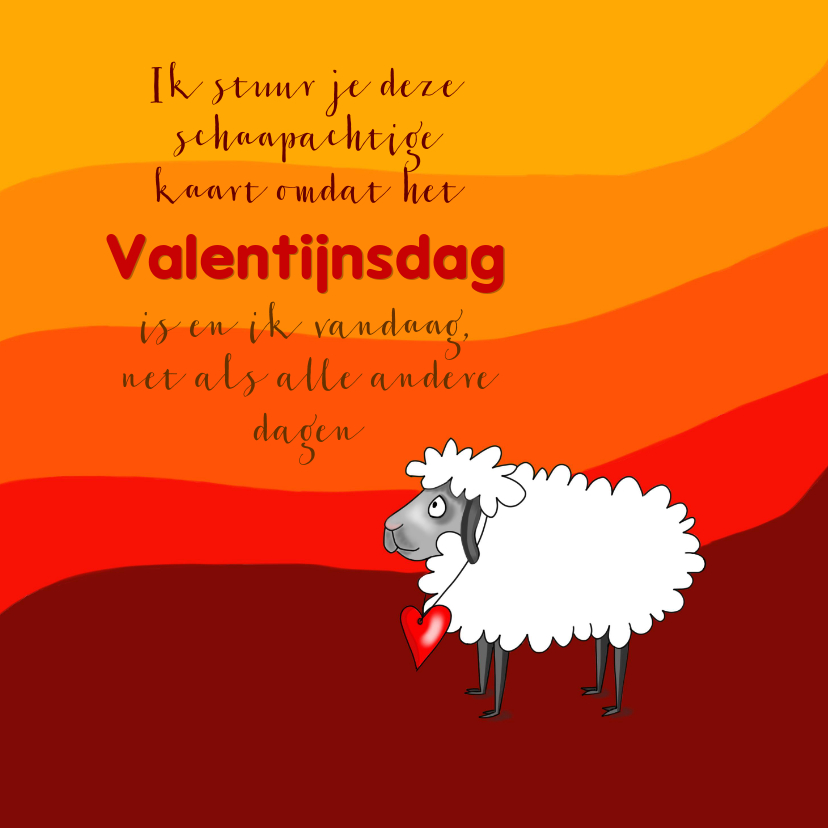 Valentijnskaarten - Schaap met hart