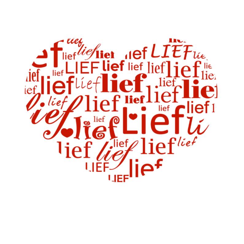 Valentijnskaarten - Teksthart