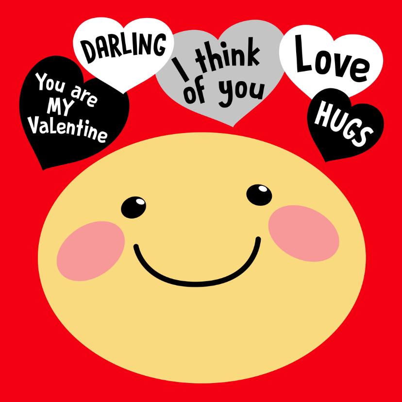 Valentijnskaarten - Valentiinskaart Smiley love