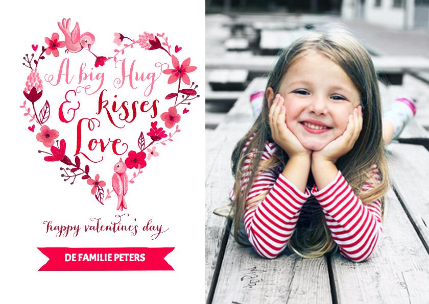 Valentijnskaarten - Valentijn Hart Bloemen Lief