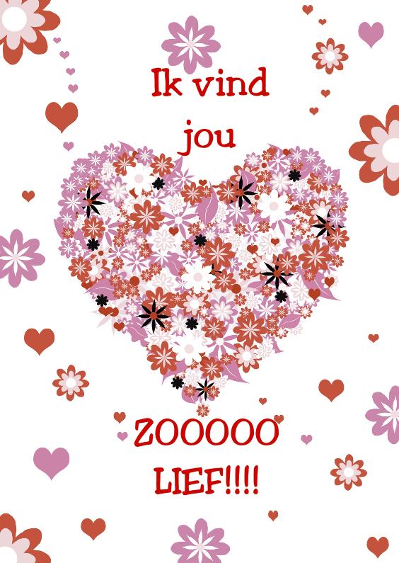 Valentijnskaarten - valentijn hart