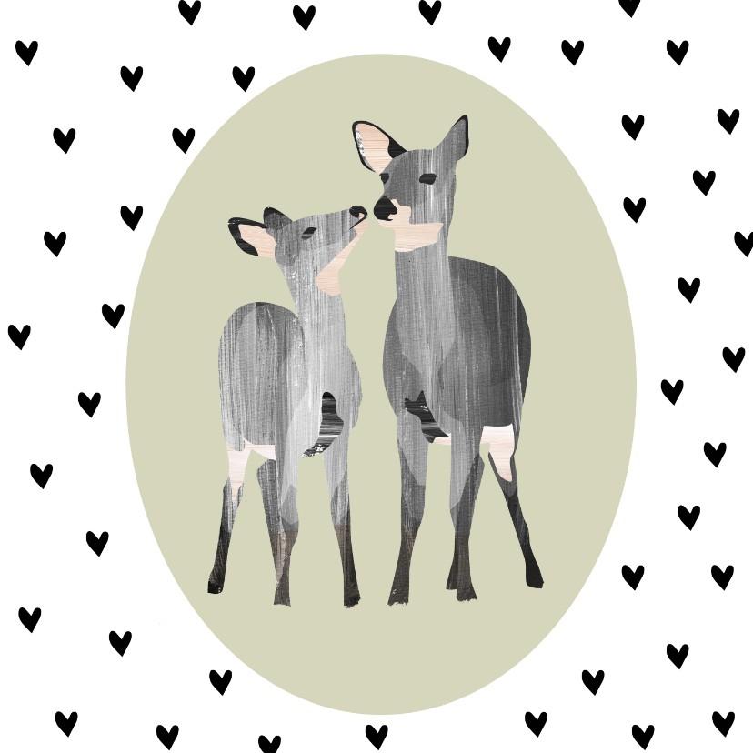 Valentijnskaarten - Valentijn Hertjes & Hartjes
