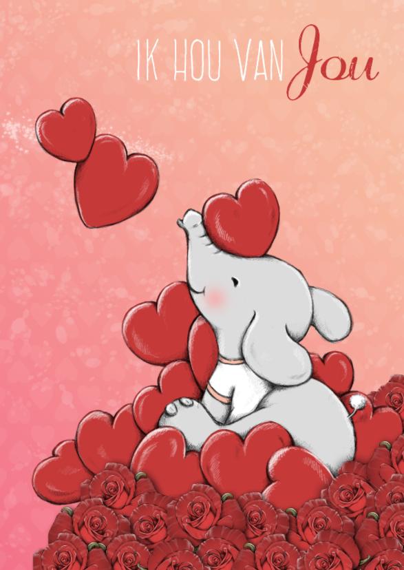Valentijnskaarten - Valentijn ik hou van jou - IH