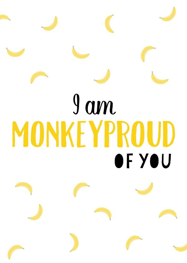 Valentijnskaarten - Valentijn Monkeyproud of you