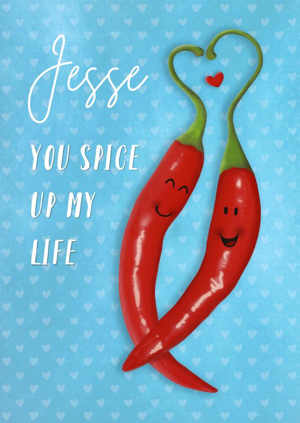 Valentijnskaarten - Valentijn pittige pepers