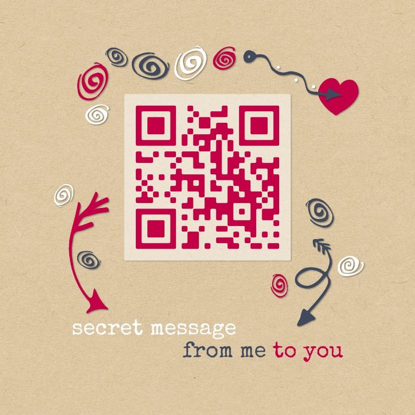 Valentijnskaarten - Valentijn QR code Best friends forever